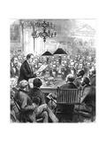 Heinrich Schliemann Lecturing in London Giclee Print