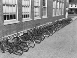 Bikes on Bike Rack Photographic Print by Philip Gendreau