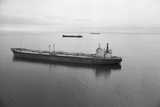 Oil Tankers at Various Distances Photographic Print