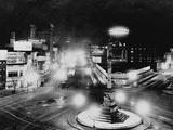 Columbus Circle with Night Lights Photographic Print