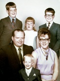 Family Portrait of Young Family, Ca. 1971 Photographic Print