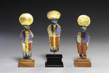 Three Egyptian Cobra Sculptures Photographic Print