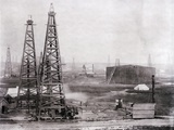 Oilfield at Spindletop Photographic Print