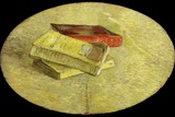Three Books Photographic Print by Vincent van Gogh