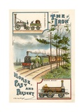 The Iron Horse Past and Present Giclee Print