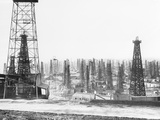 Signal Hill Oil Derricks Photographic Print