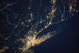 New York City and Long Island Seen from the International Space Station Photographic Print