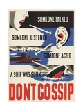 Don't Gossip Poster Giclee Print