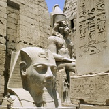 Monumental Sculptures and Relief Carvings at Luxor Photographic Print