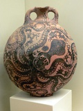Minoan Clay Flask Decorated with Octopus Photographic Print