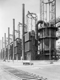View of Cracking Stills at Oil Refinery Photographic Print