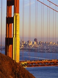 Golden Gate Bridge and San Francisco Skyline Photographic Print by Paul Souders