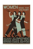 Women Work for Victory Poster Giclee Print