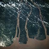 Mekong Delta Seen from Space Photographic Print