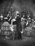 A Dance under the Mistletoe Photographic Print