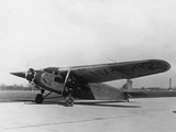 Byrd's Plane Parked on Runway Photographic Print