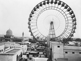 Ferris Wheel at Chicago Exposition Photographic Print