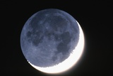Crescent Moon with Earthshine Photographic Print by Roger Ressmeyer