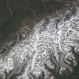 Satellite Image of Denali National Park and Preserve Photographic Print