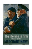 The Life-Line Is Firm, Thanks to the Merchant Navy Poster Reproduction procédé giclée