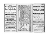 The Immigrants' Guide to the Most Fertile Lands of Kansas Pamphlet Giclee Print