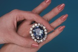 The Hope Diamond as a Ring Photographic Print by Fred Ward