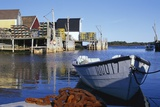 Boat and Fishermen's Wharf in Nova Scotia Photographic Print by Paul Souders