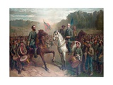 The Last Meeting Between General Robert E. Lee and Stonewall Jackson Impression giclée