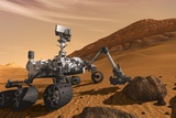 Curiosity Rover on Mars Photographic Print