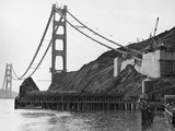 Golden Gate Bridge under Construction Photographic Print