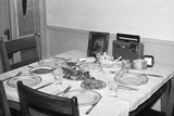 Jesus Watches over the Dinner Table, Ca. 1956 Photographic Print