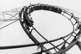 Car Going Through Roller Coaster Loop Photographic Print