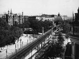View of the Nollendorfplatz Railroad Station Stampa fotografica
