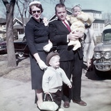 Young Family Dressed in the Sunday Best, Ca. 1960 Photographic Print