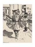 Feline Ballerina Giclee Print