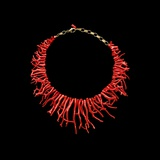 Coral Necklace with Natural Branches of Coral Photographic Print