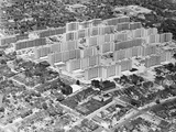 Aerial View of St. Louis Housing Project Photographic Print