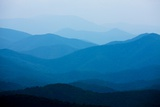 Blue Mountains, Blue Ridge Parkway, Virginia Fotografie-Druck von Paul Souders