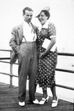 Young Couple Portrait on Boardwalk, Ca. 1929 Photographic Print