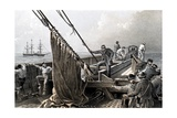 Laying the Transatlantic Telegraph Cable Giclee Print