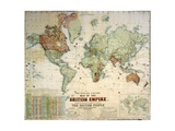 The Howard Vincent Map of the British Empire Giclee Print
