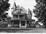 Exterior of Victorian American Home Photographic Print
