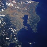 Tokyo Bay from Space Photographic Print