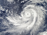 Satellite Image of Typhoon Francisco over the Pacific Ocean Photographic Print