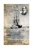 Postcard Commemorating Captain Scott's Expedition to South Pole Giclee Print
