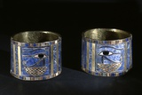 Ancient Egyptian Bracelets with Wedjat Eyes Photographic Print