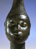 Benin Brass Head of Idia, Queen Mother of Benin Photographic Print