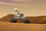 Curiosity Rover on Mars Reprodukcja zdjęcia