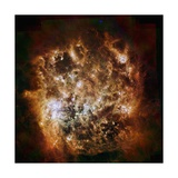 Large Magellanic Cloud Galaxy in Infrared Light Giclee Print