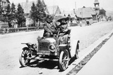 Mature Couple in a Car, Ca. 1910 Photographic Print